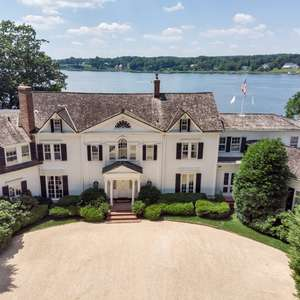 Architectural Masterpiece Set High on the Banks of the Prestigious Navesink River