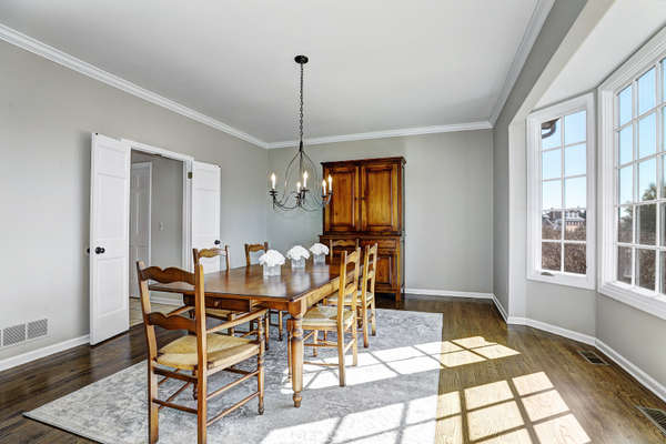 SUN-DRENCHED FORMAL DINING ROOM