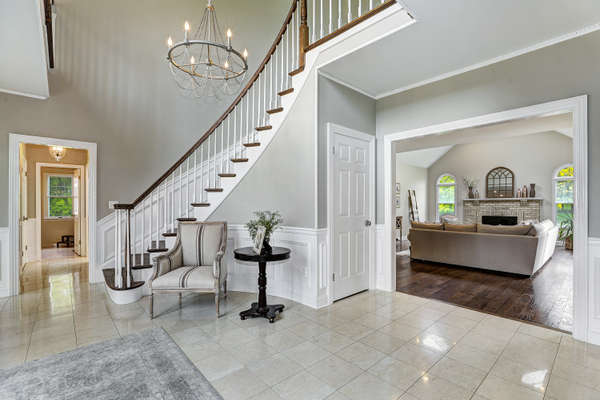 ENTRY OPENS TO GREAT ROOM
