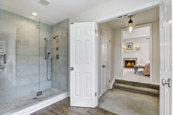 OVERSIZE MASTER SHOWER AND OPEN TO MASTER SUITE