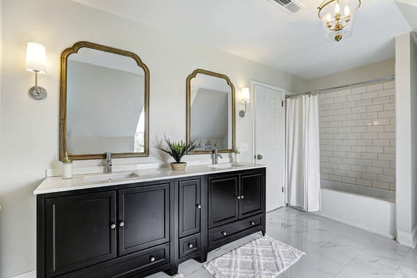 ANOTHER VIEW OF RENOVATED MAIN BATHROOM