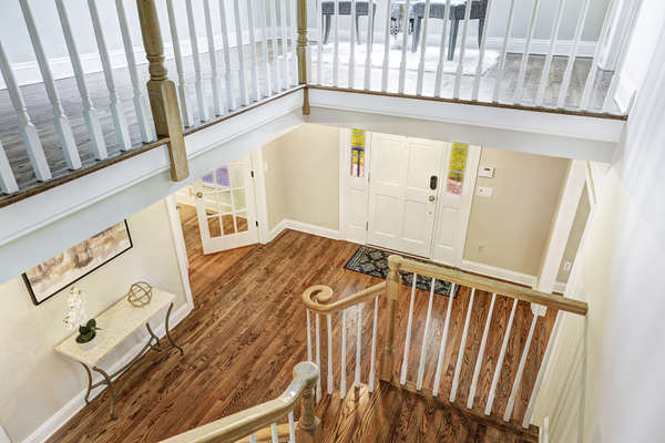ENTRY FOYER FROM 2ND LEVEL
