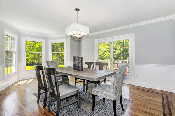 DINING W/FRENCH DOORS TO DECK