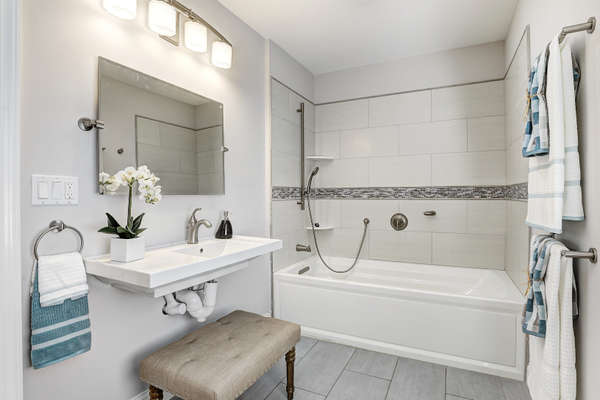 UPDATED BATH JETTED TUB
