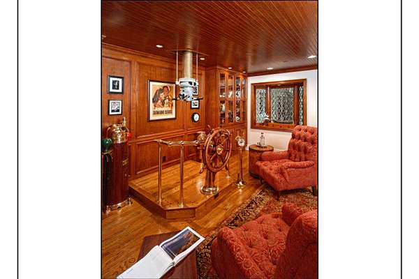 Customer Library with WWII Submarine Periscope to enjoy views.