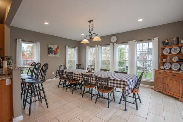 Newer Addition allowing for a huge dining area!