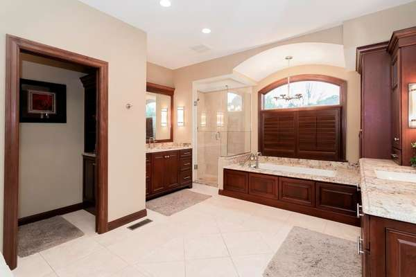 Large Kohler Cast Iron Soaking tub, and Separate Walk-in Shower