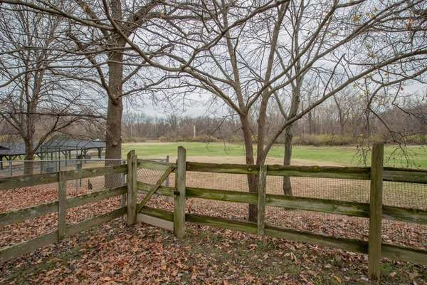 Gorgeous large, level backyard provides scenic views to wide open space of common ground!
