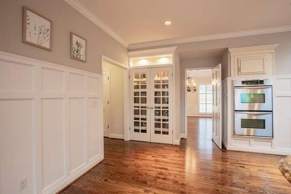 Pantry with French Doors