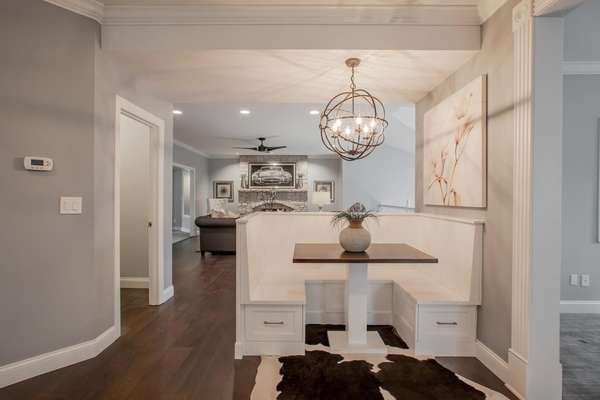 Built-in Banquette Dining Area