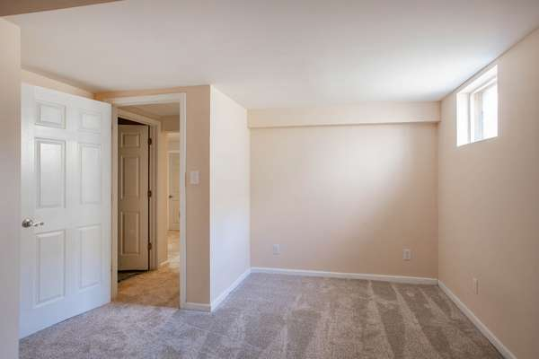 Lower Level Finished Area - Perfect for Office, Playroom, Fitness Room or Sleeping Area