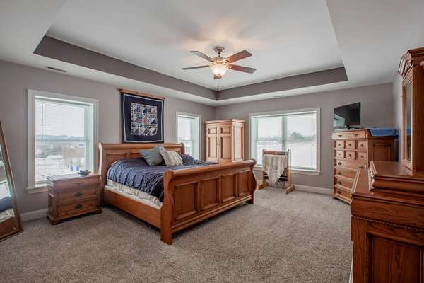 Coffered Ceiling in Master Bedroom