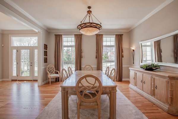 Crown Molding, Chair Rail, and 2 Large Windows