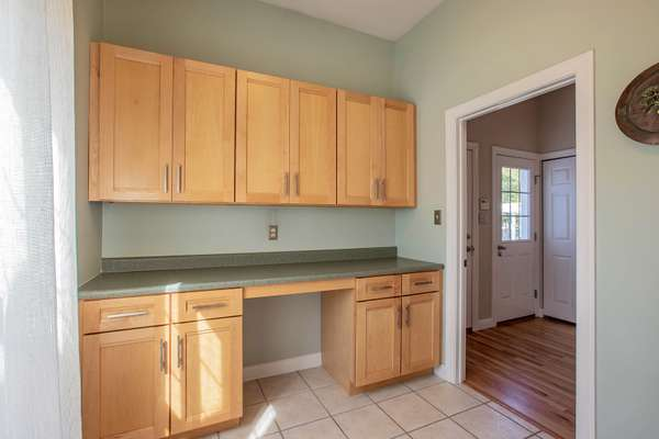 Laundry Room Offers Custom Cabinetry