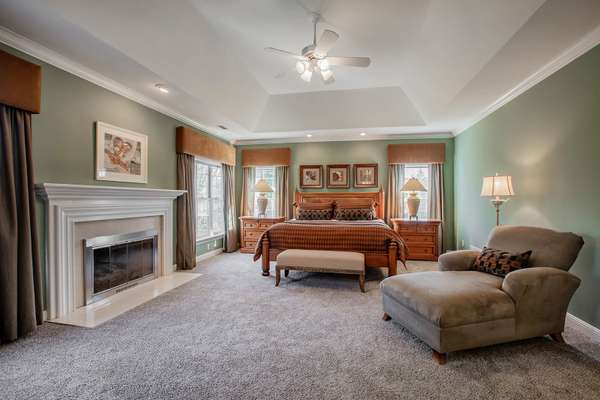 Spacious Master Retreat with a Gas Fireplace