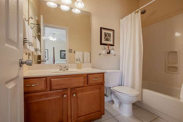 Private Bathroom Serves the 4th Bedroom