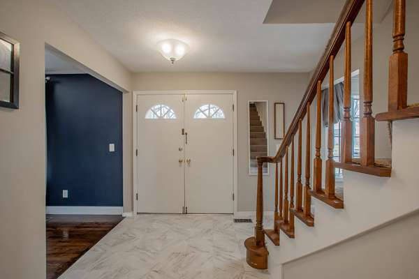 Inviting Entry Foyer with Newer Flooring