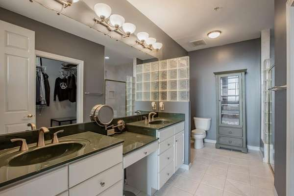 Dual Sink Vanity with Newer Faucets