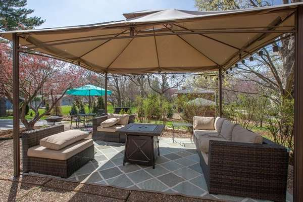 Expansive, Two-Tiered, Aggregate Patio
