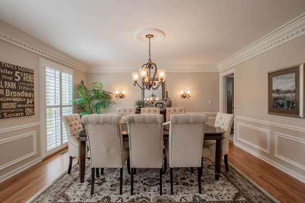 Formal Dining Room with Exquisite Details