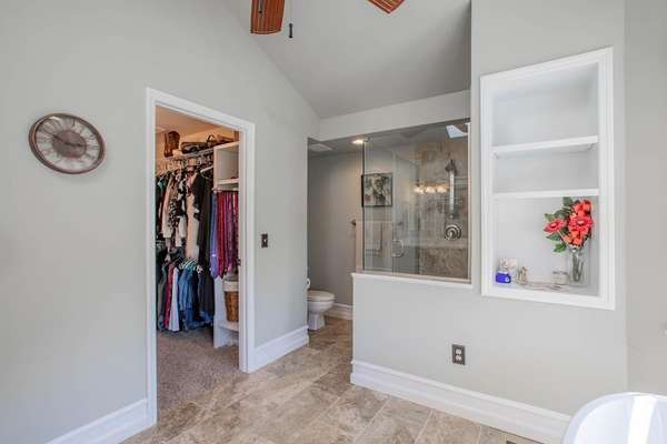 Separate Shower and a Walk-In Closet