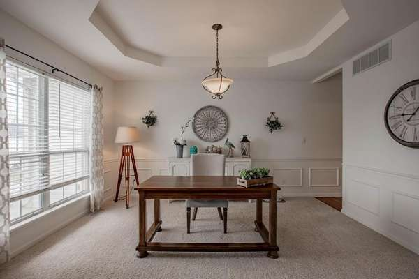 Formal Dining Room Currently Used as an Office