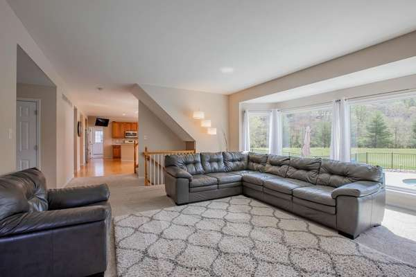 Family Room with Newer Windows
