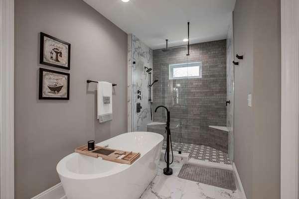 Spa-Like bath, with Stand-Alone, Deep Soaking Tub