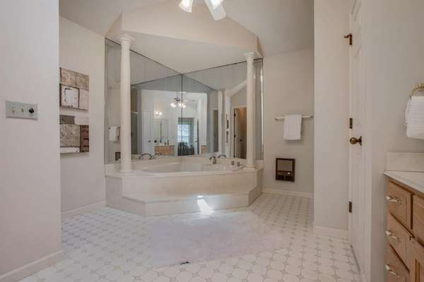 Large Corner Jetted Tub, and a Separate Shower