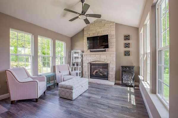 Vaulted Hearth Room