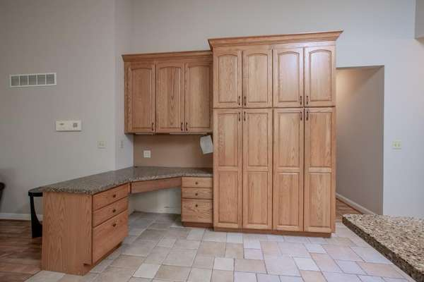 Custom Designed Pantry and a Planning Desk