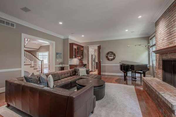 Family Room with Wet Bar