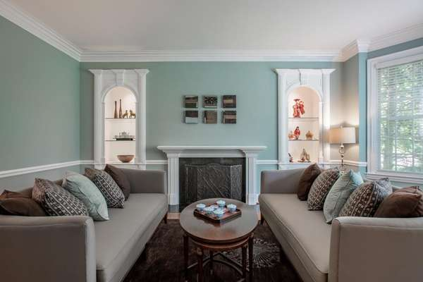 Fireplace Flanked by Beautiful Built-ins