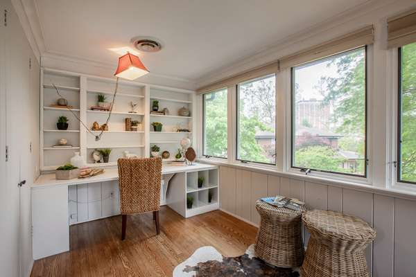 Office/Den offers a wonderful view overlooking the neighborhood park in the distance!