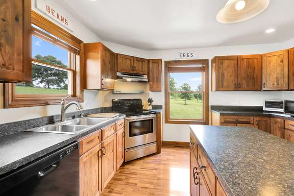 Custom Hickory Cabinetry