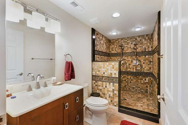3rd Full Bathroom with a Walk-In Shower and Dual Shower Heads