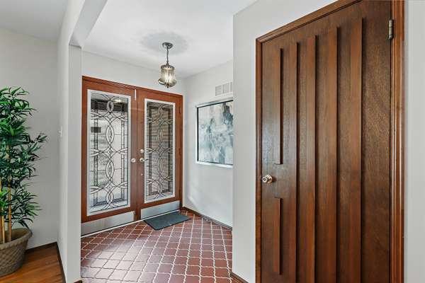 Entry Foyer with French Doors
