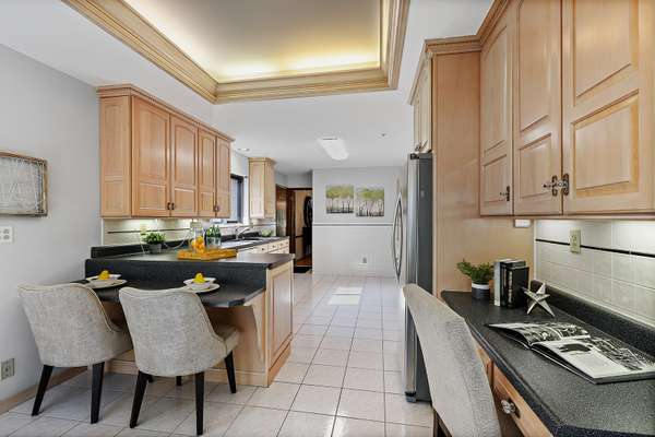 Extended Countertop with Seating