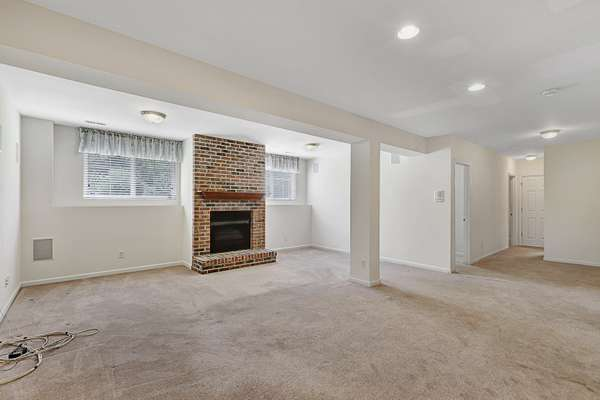 Rec Room with Gas Fireplace