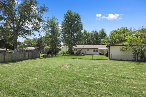 Huge, Level Backyard Completely Fenced-in
