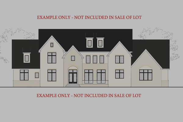 Site Plan and Rendering are Example Only - Not Included in Sale of Lot
