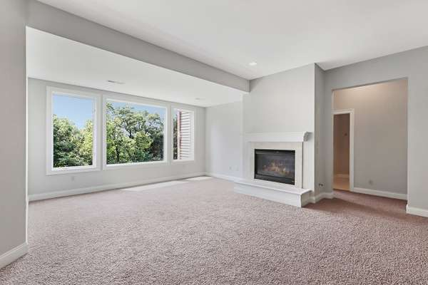 Spacious Family Room with a Gas Fireplace
