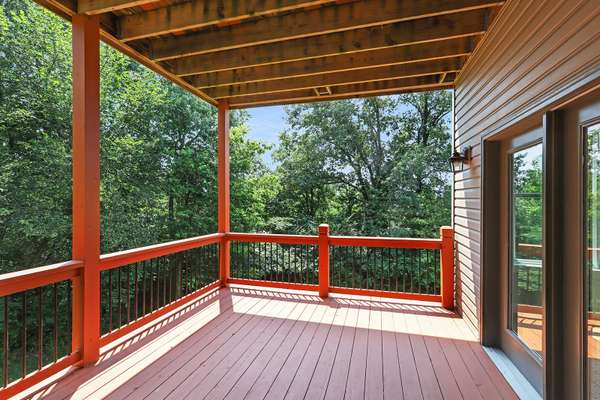 Covered Deck off Lower Level Rec Room