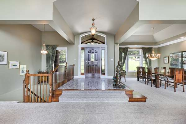 Entry Foyer with Barrel Ceiling