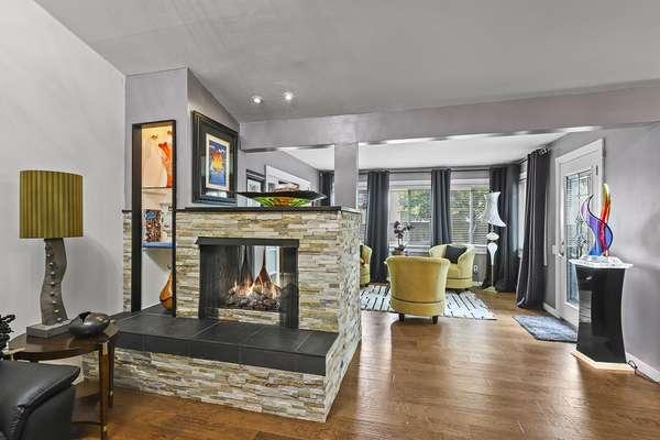 Custom Stone Gas Fireplace
