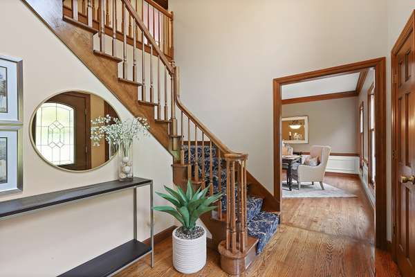 Handcrafted Front Staircase