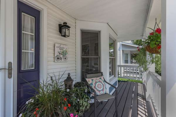 Charming Covered Front Porch