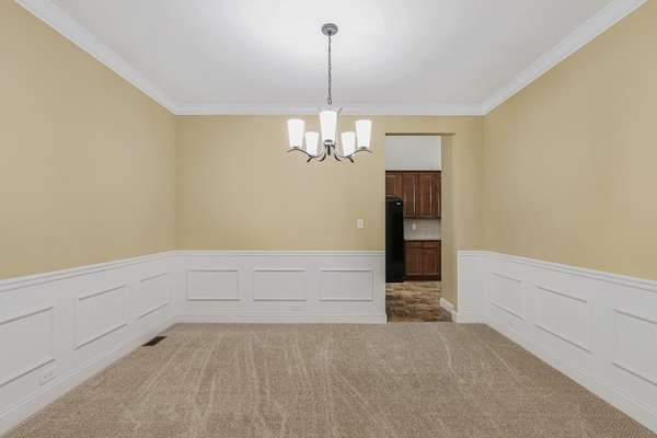 Crown Molding, Elegant Wainscoting and Chair Rail