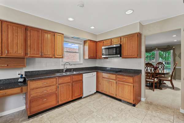 Eat-In Kitchen with Granite Countertops