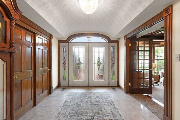 Entry Foyer with Marble Flooring